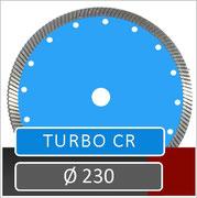slijpschijf turbo cr diameter 230 voor gebruik op haakse slijper