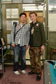 左:西嶋大策プロ、右:虻川修プロ(やや濡)