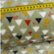 Kuschel- Fleece Triangel, beige. Floor-höhe 4mm
