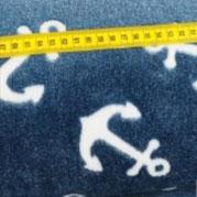 Kuschel- Fleece Anker, blau. Floor-höhe 4mm