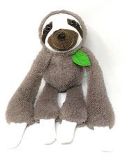 Kuscheltier Faultier für Spieluhr, personalisierbar mit Namen und Wunschmelodie, 45cm groß, aus kuschelweichen Baumwolle Plüsch inmokka