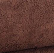 Teddy Plüsch Krimer dunkel-braun, 100% Baumwolle, Öko Tex 100