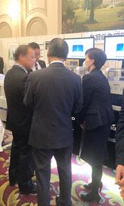 日本臨床微生物学会 ブース応対の様子