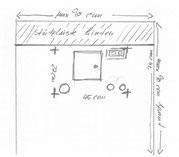 Skizze der Waschbecken-Anschlüsse