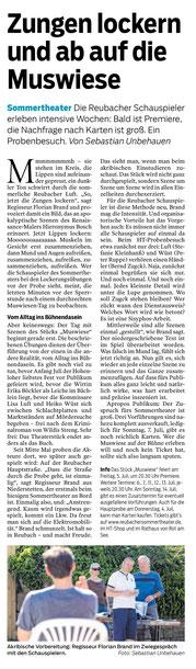 HT-Probenbesuch durch Redakteur Sebastian Unbehauen, 14. Juni 2019