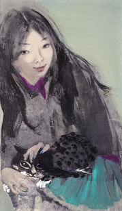 与太郎 WITH TAILANG 120X70CM  布面油画  OIL ON CANVAS  2011