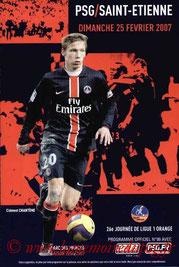 Programme  PSG-Saint Etienne  2006-07