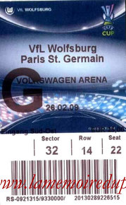 Ticket  Wolfsburg-PSG  2008-09