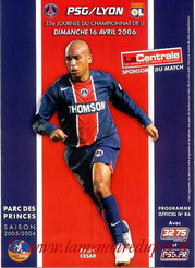 Programme  PSG-Lyon  2005-06