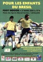 Affichette  3ème Gol de Letra  2004-05