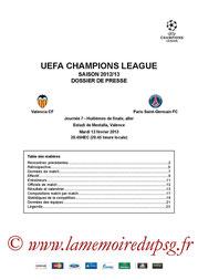 Dossier de presse  Valence-PSG  2012-13