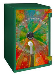 Primat Primstar Art Modell Nr. 1 Farbige Sommerblumen von  Petrina VAKE, presented by Egger Tresore Safes
