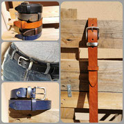 cintura artigianale in cuoio nero