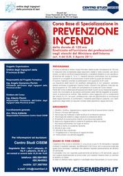 corso PREVENZIONE INCENDI - manifesto