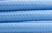 Textilkabel Hellblau