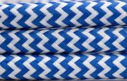 Textilkabel blau-weiß zickzack