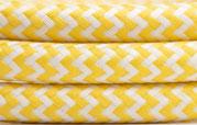 Textilkabel Gelb-Weiß