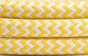 Textilkabel Gelb-weiss