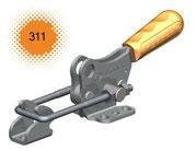 Verschlussspanner / Bügelspanner mit waagerechtem Fuß