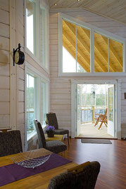 Wohnen im Blockhaus nach finnischer Art