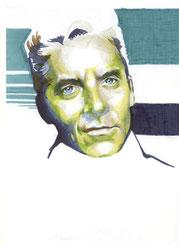 Zeichnung auf Papier von Bárbara Paulin - Titel: Mr. von K.