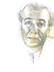 Zeichnung auf Papier von Bárbara Paulin - Titel: Sir. Borges