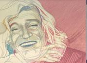 Zeichnung auf Papier von Bárbara Paulin - Titel: Mr. Robert