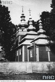 Cerkiew św. Michała Archanioła w Wysowe  fot. Narodowe Archiwum Cyfrowe