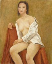 裸 婦 (油彩・F15 )