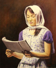 スカーフの女 (油彩・    )
