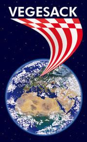 Planet Erde mit Speckflagge Bremen und Vegesack