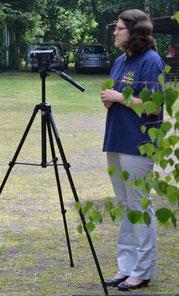 Isabella als Kamerafrau.