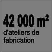 42000m² d'ateliers de fabrication à Chalon sur Saône