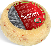 pecorino maremma new taste sheep sheep's cheese dairy caseificio tuscany tuscan spadi follonica block 1200g 1.2 kg italian origin milk italy matured aged flavored flavor aromatic al peperoncino hot red pepper chili