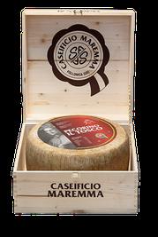 maremma sheep sheep's cheese dairy pecorino caseificio tuscany tuscan spadi follonica block 16000g 16kg italian origin milk italy matured aged il tosco classic wooden box packaging special gift tuscany italy maremma