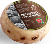 pecorino maremma new taste sheep sheep's cheese dairy caseificio tuscany tuscan spadi follonica block 1200g 1.2kg italian origin milk italy fresh tender flavored flavor con le noci nuts nut walnut walnuts aromatic