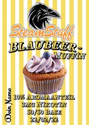 Blaubeer-Muffin dampfen, Aroma für Muffins, Aromen für Gebäck, Blaubeer-Muffin-liquid