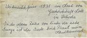 Beschriftung von Katharina Maul auf der Rückeite des Fotos