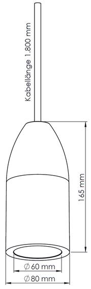 Abmessungen Betonlampe