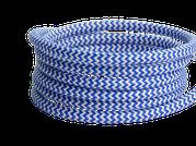 Textilkabel blau-weiß