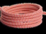 Textilkabel rot-weiß
