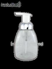 botella espumadora oval, dispensador en espuma plata, envase espumador
