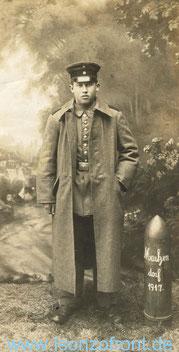 Karl Gassenschmidt im Jahr 1917.