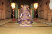 宵宮祭の玉串拝礼