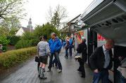 Ankunft der Musikkapelle Nussdorf zum Konzert Blaskapelle Meeder 2016