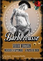 Affiche A3 Soirée Western Barberousse