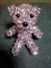 家内作製のビーズの熊?