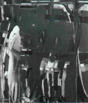 「ゴルゴタの嘆き」 田中悦子 油彩    123x154cm