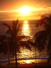 Sunset am Strand von Puerto Naos Foto: Walter Bickel