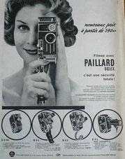 Caméra Paillard fin années 50